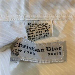 Dior Tops - Vintage Christian Dior White Button Down Shirt